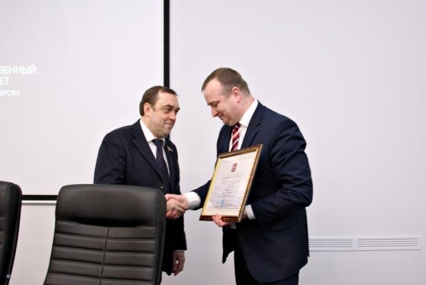 Алексей Егоров награждён Почётной грамотой Витебского областного исполнительного комитета